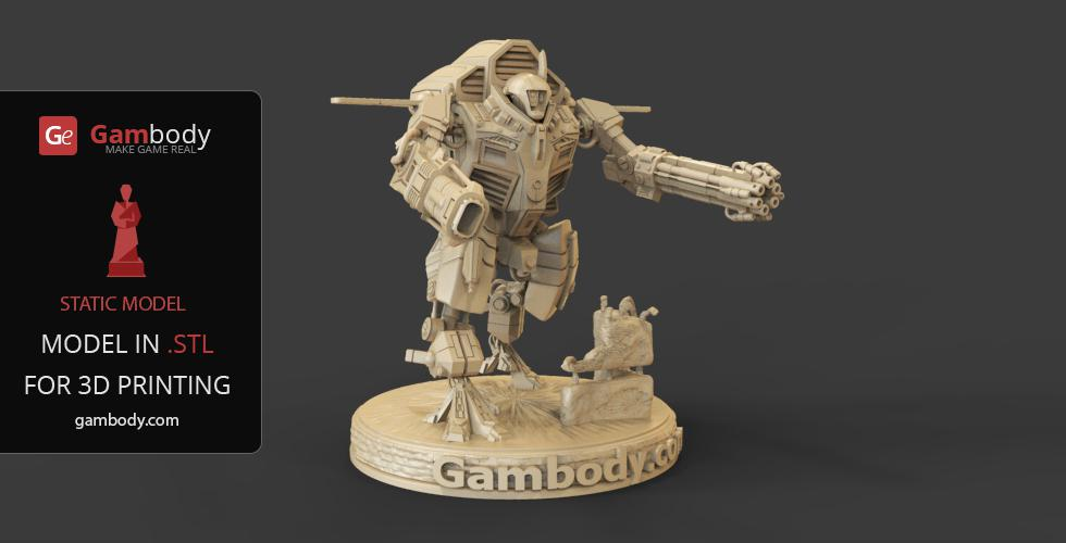 Warhammer 40K - TAU XV109 Y'Vahra 3D Printing Files   Nixon's 3D Models