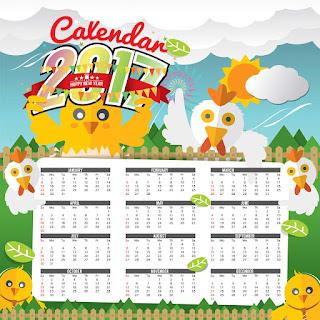 2017カレンダー無料テンプレート50