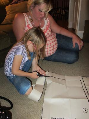 girl cutting pattern