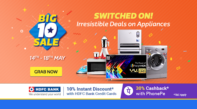 Big10 Sale [Day 1]: 10% Off with HDFC Credit Cards | Upto 22k Off on Exchange on TVs | Get MMT Hotel GC worth 2.5K & many more!