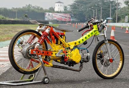 Modifikasi Motor Honda Blade Drag