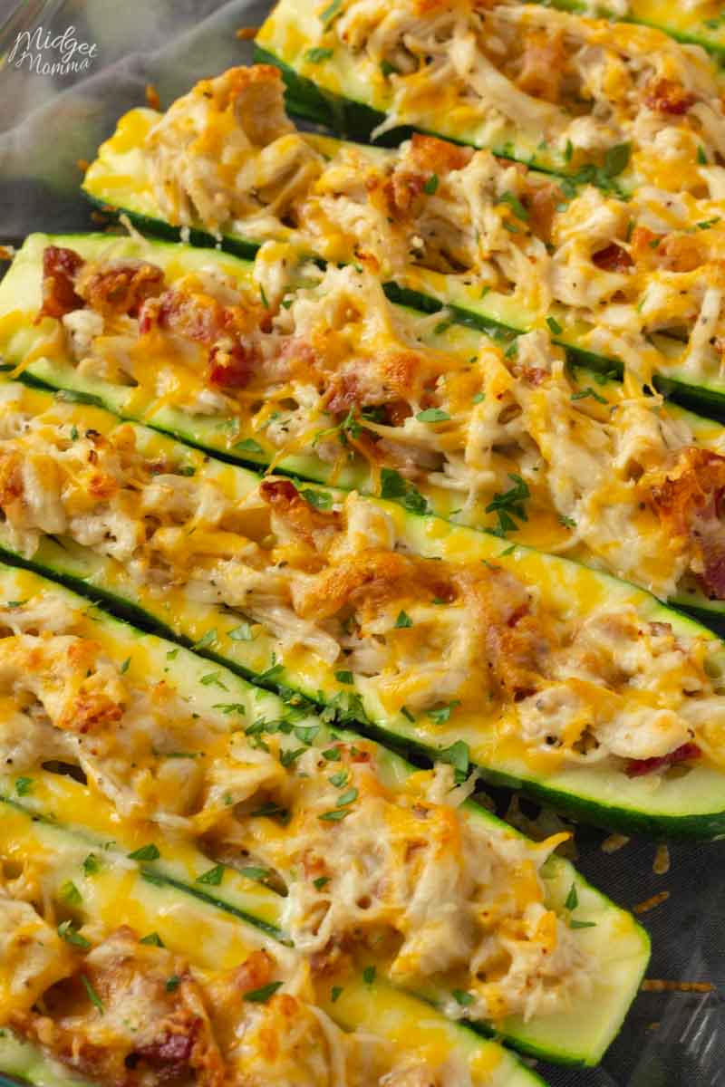 #Chicken #Bacon #Ranch #Low #Carb #Zucchini #Boats