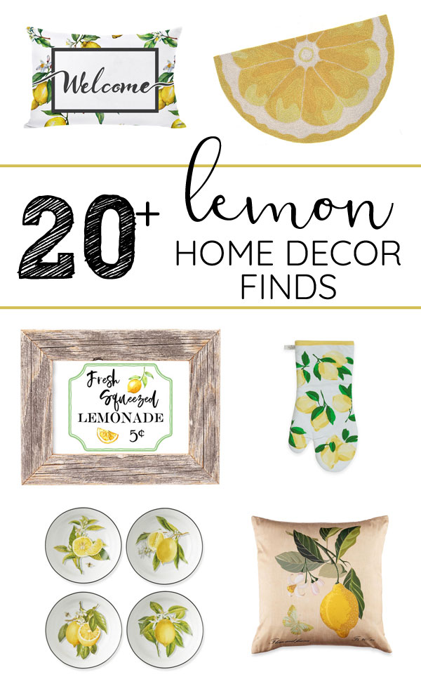 Looking for farmhouse style lemon decor for your home? Get tons of inspiration for spring and summer decorating with lemons right here!
