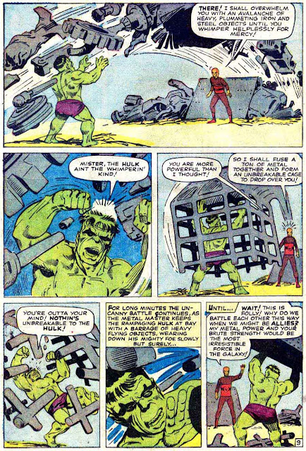 Incredible Hulk v1 #6 marvel comic book page art by Steve Ditko