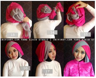 Model hijab untuk wisuda yang kedelapan