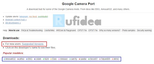 google camera port website