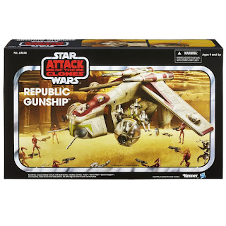 Nave Republic Gunship Star Wars Hasbro Disney na caixa