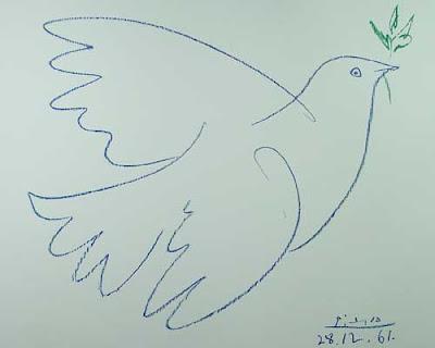 A Pomba, de uma série de gravuras dedicada aos pássaros, foi utilizada em um cartaz do Congresso pela Paz em Paris, e a partir de então tornou-se um símbolo universal.