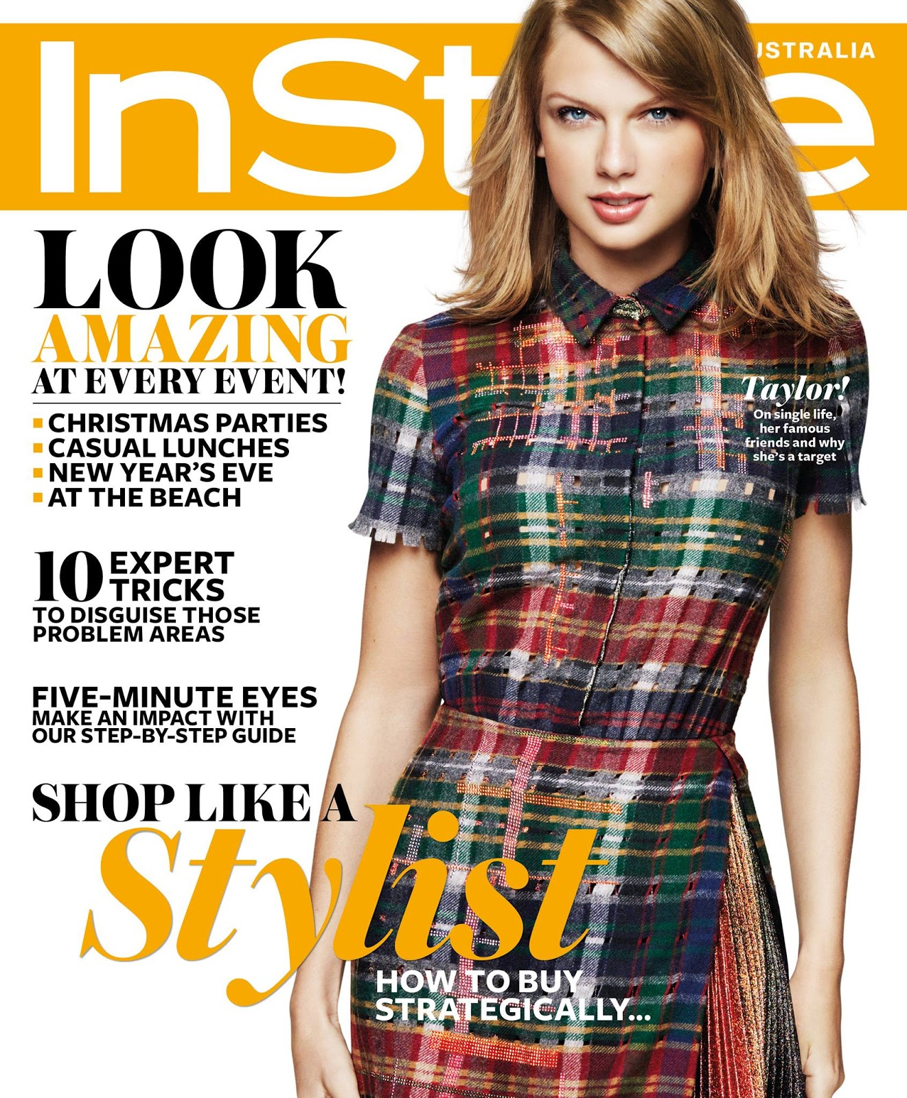 Taylor Swift is chic for the InStyle Australia December 2014 cover
