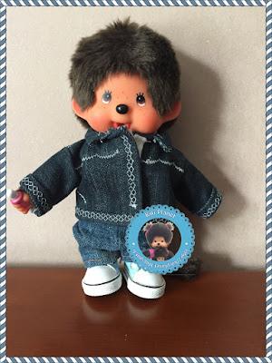 Veste en jean réalisée main pour Kiki ou Monchhichi -blouson jean- couture -fait main