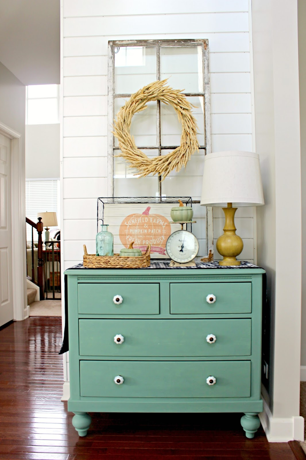 aqua painted furniture