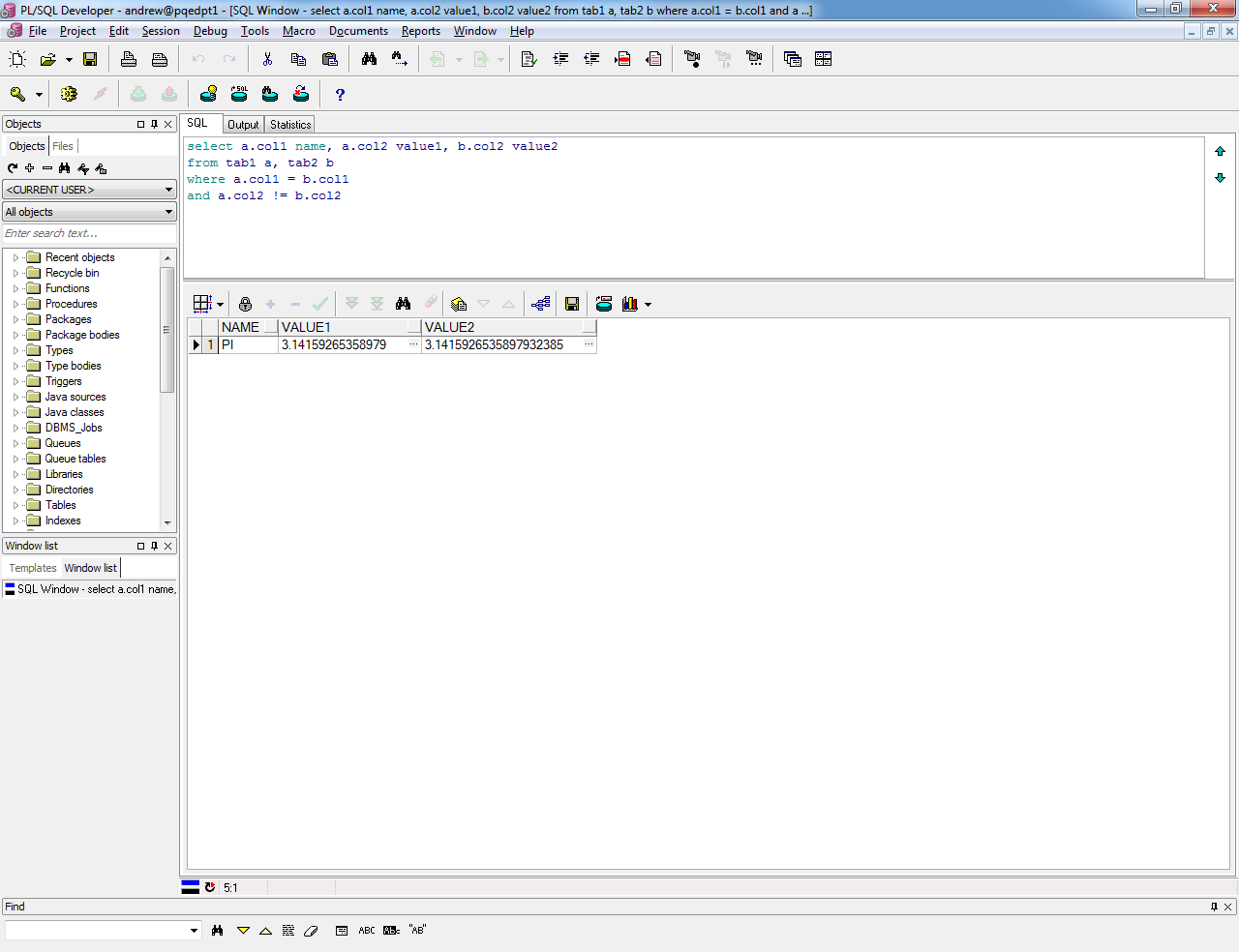 pl sql developer diagram window 89 honda civic radio wiring andrew 39s oracle blog setting numwidth in