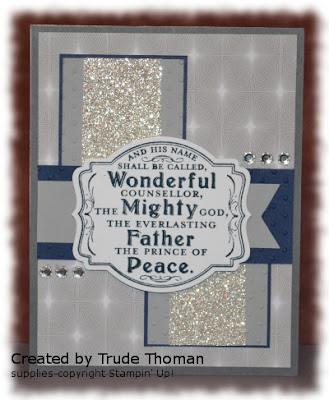 stamp with Trude, Mojo Monday, Stampin' Up!, Prince of Peace, Christmas card