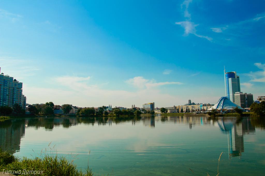 Набережная реки Свислочь Минск фото