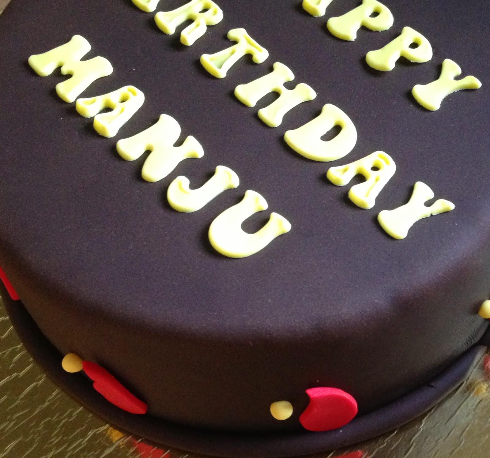Happy Birthday Cake Manju