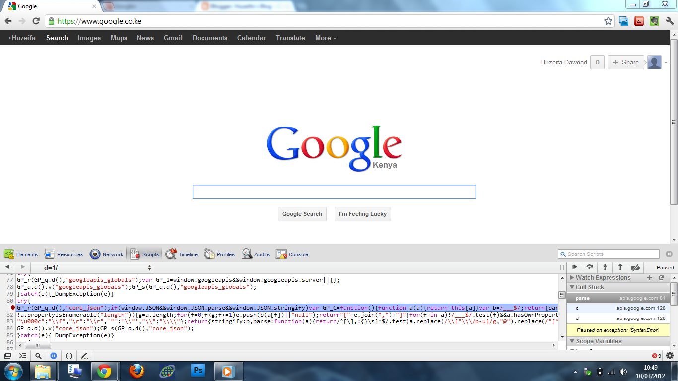 Huzeifa's Blog: Download Youtube videos using Chrome developer tools