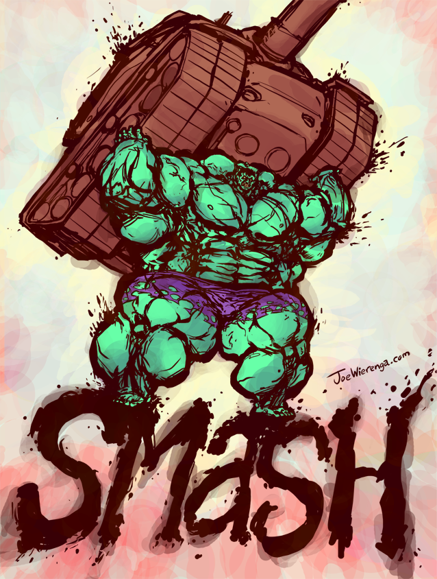 Joe Wierenga Production Blog: Hulk Smash!