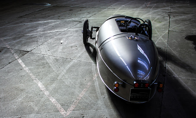Morgan EV3 rear view