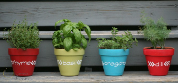 Here Comes The Sun Herb Garden Pot Markers Using Vinyl