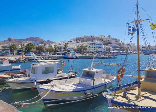 This amazing harbor welcomes you to Naxos