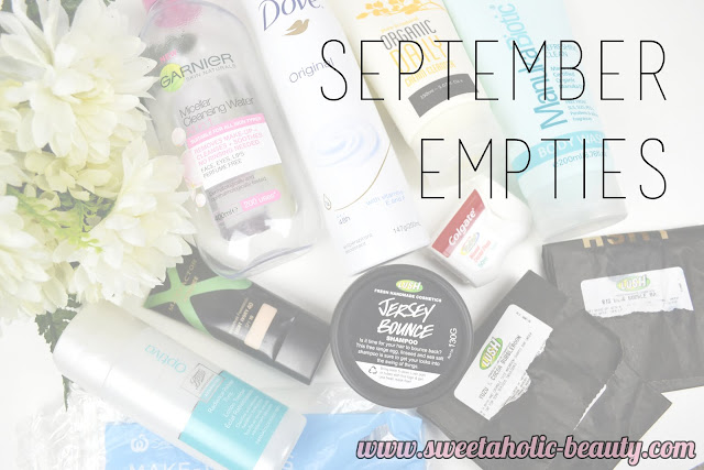 September Empties - Sweetaholic Beauty