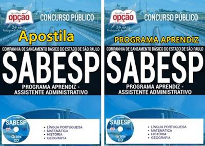 Apostila concurso Sabesp Aprendiz 2017: Assistente Administrativo