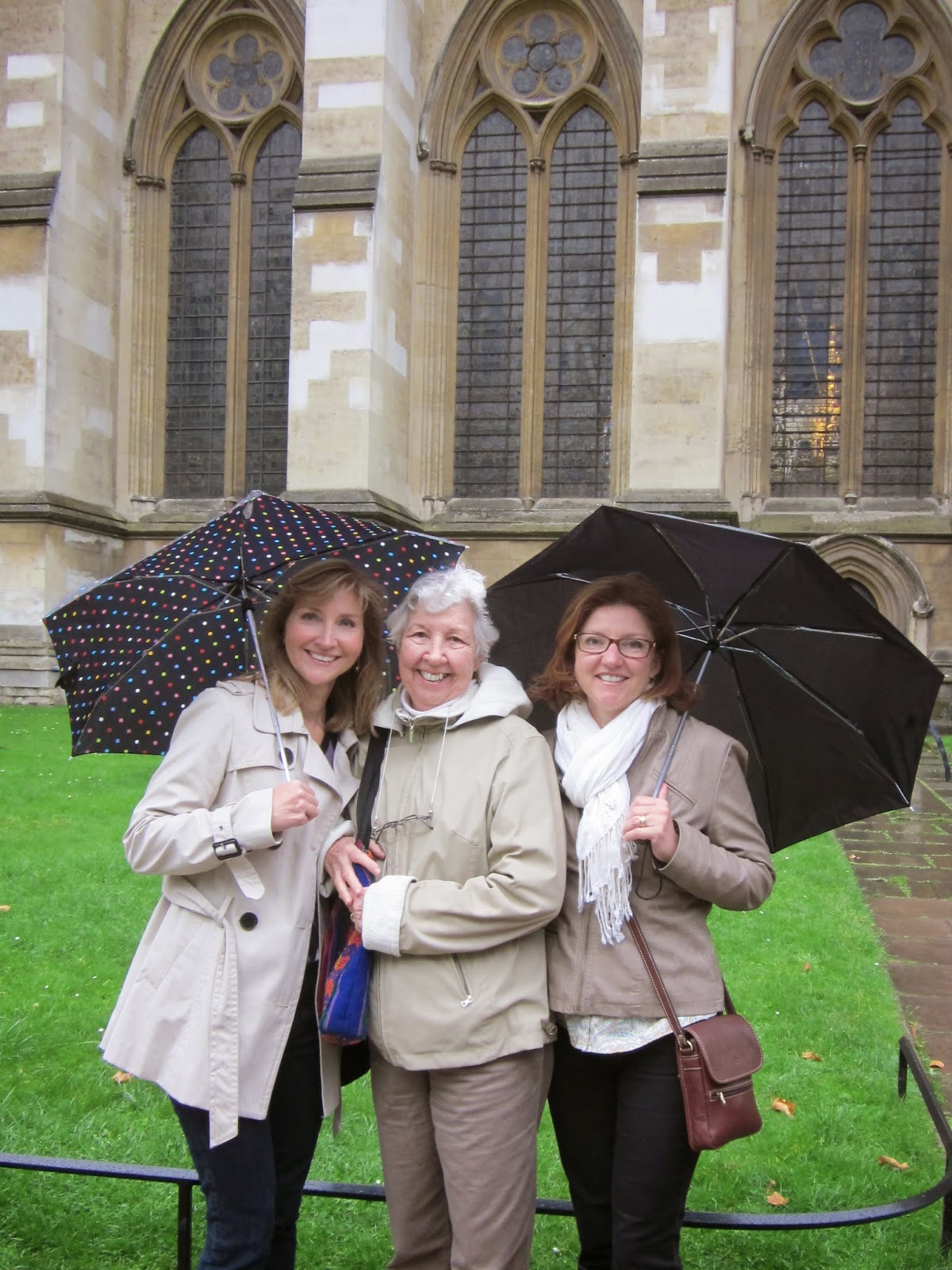 with Mama and Jenny at Westminster Abbey