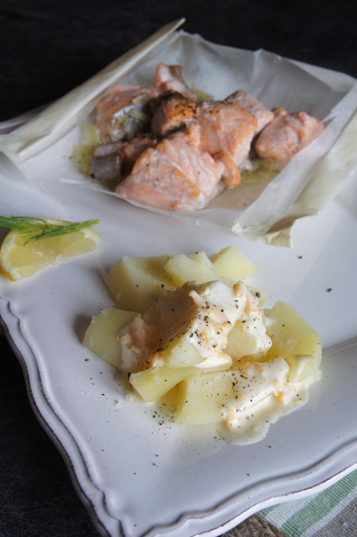Papillote de saumon au fenouil et sa sauce au vin blanc - Papillote saumon four ...