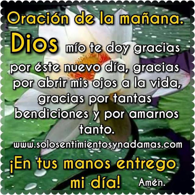 Oración de la mañana.