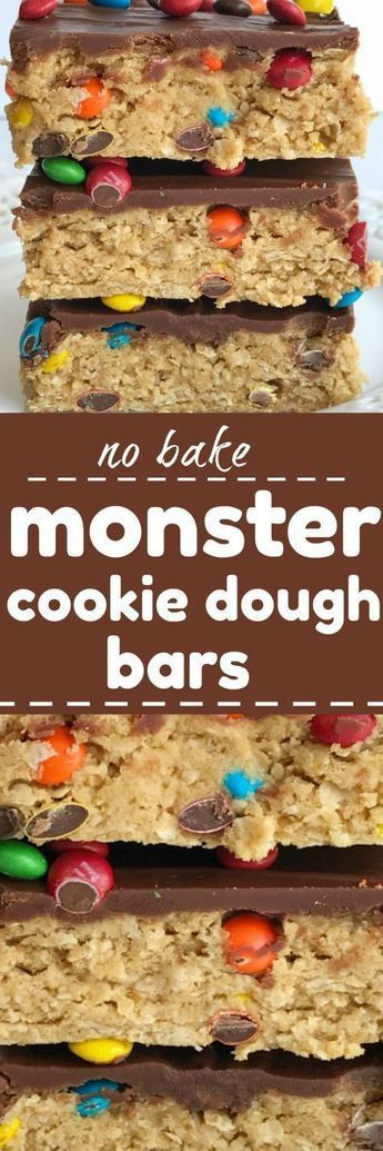 MONSTER COOKIE DOUGH BARS #Monstercookie #Monster #Dough #Barscookie #Chocorecipe #choco #cookie #Bestcookie #Colorfullcookie