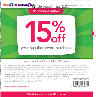 Toys R Us coupons for april 2017