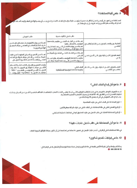 بطاقة تقنية حول التغطية الصحية التكميلية (AMC+)
