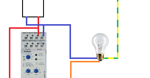 schema electrique le branchement d 39 un interrupteur cr pusculaire. Black Bedroom Furniture Sets. Home Design Ideas