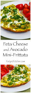 Feta Cheese and Avocado Mini-Frittata for Two found on KalynsKitchen.com