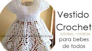 Vestido Crochet para Bebes y Niñas / Tutorial en español