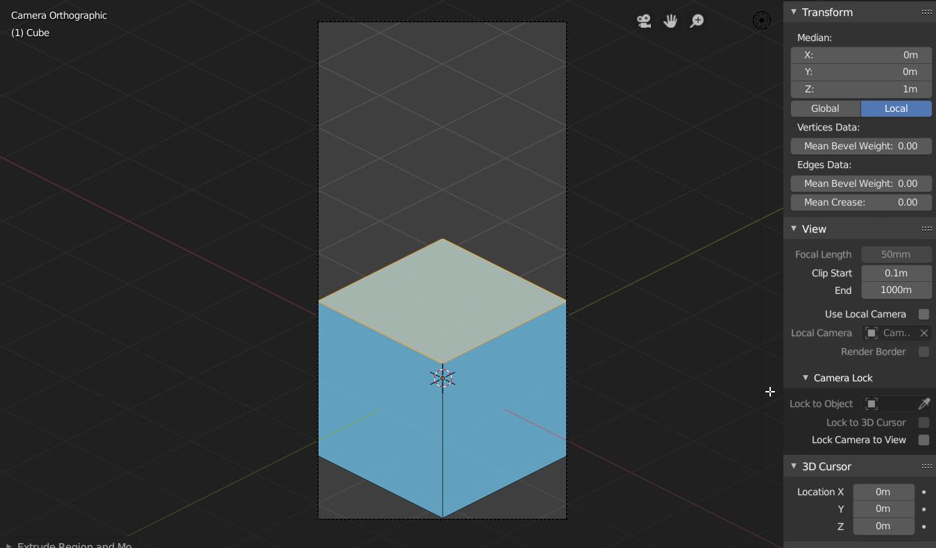 Blender 3D Dikdörtgen Prizma