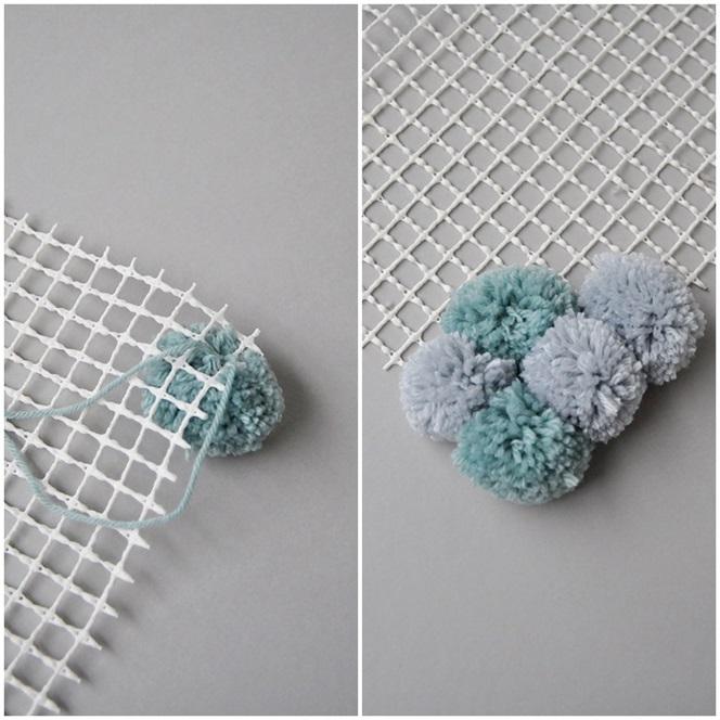 smillas wohngef hl diy flauschteppich aus pompoms einfach selber machen. Black Bedroom Furniture Sets. Home Design Ideas