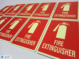Photoluminescent Fire Extinguisher Signs