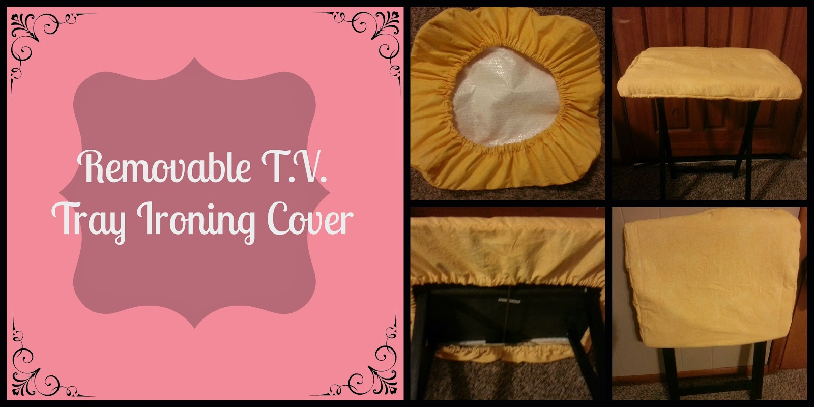 Diy Removable T V Tray Ironing Pad