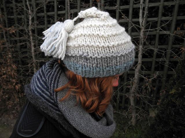 bonnet tricoté en grosse laine