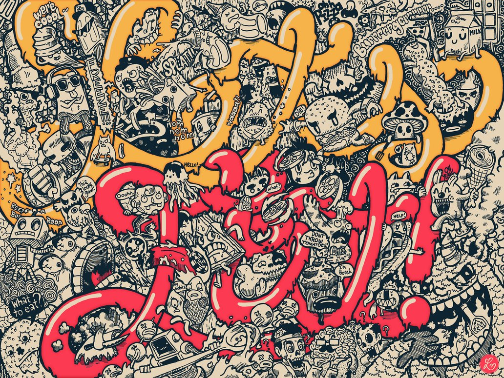 Mengenal Doodle Art - Karya Doodle Art by Lei Melendres