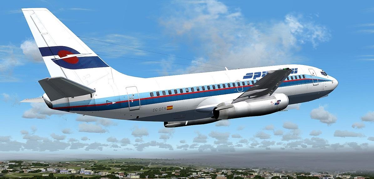 FS2004 screenshots Sweden: Spantax Boieng 737-200