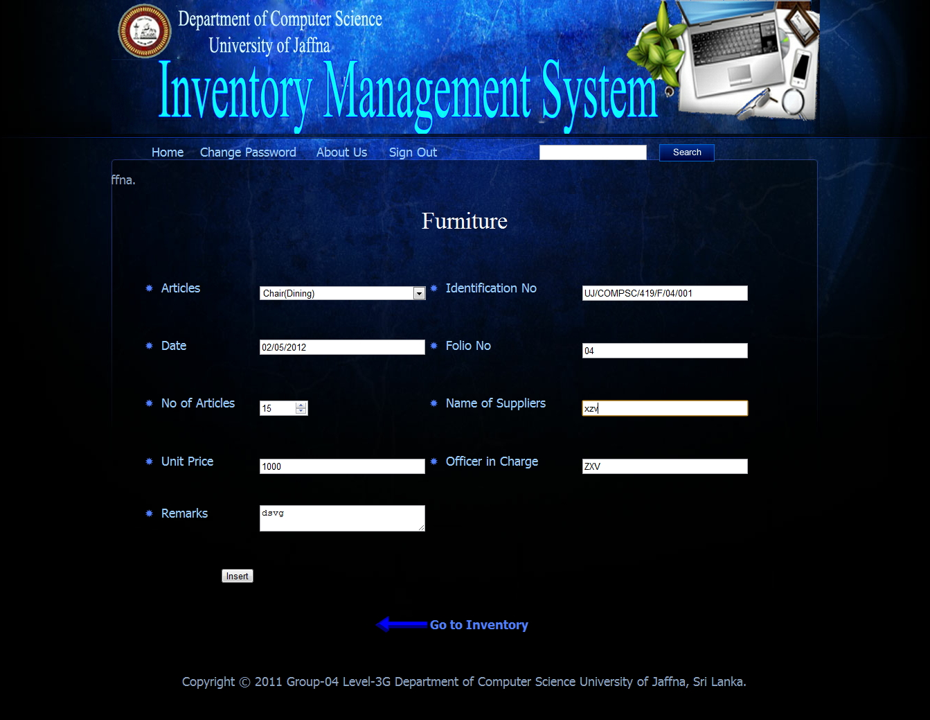 Inventory Management System (IMS)