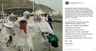 Subhanallah... Letkol Ridwan Gendong Seorang Nenek Saat Tunaikan Ibadah Haji