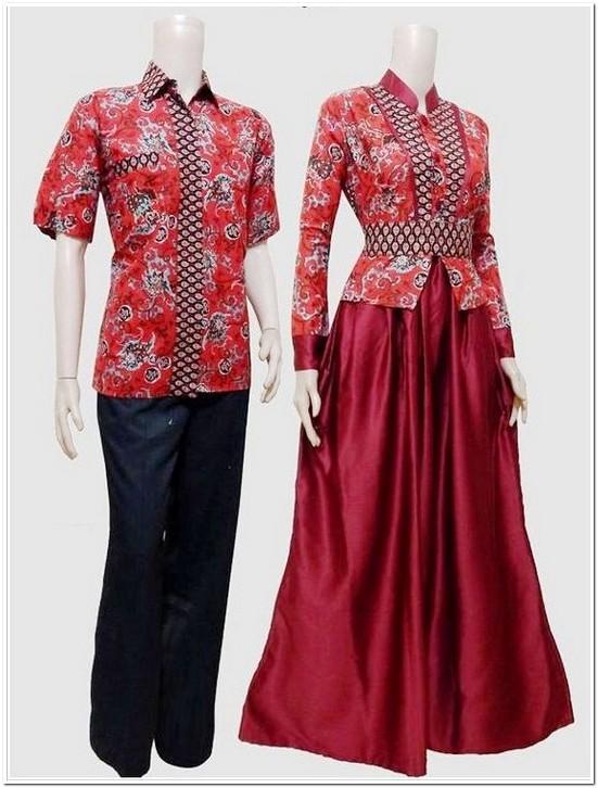 15 Koleksi Gamis Batik Dengan Kombinasi Blazer Terbaru 2018