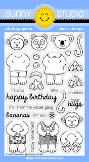 Sunny Studio Stamps: Comfy Creatures stamp set
