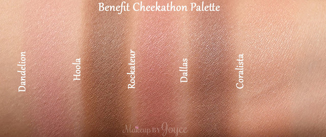 Benefit Cheekathon Blush & Bronzer Palette Limited Edition Swatches