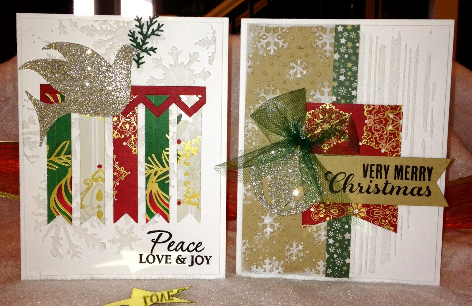 Textured Holiday Memories With Maresa Card Making
