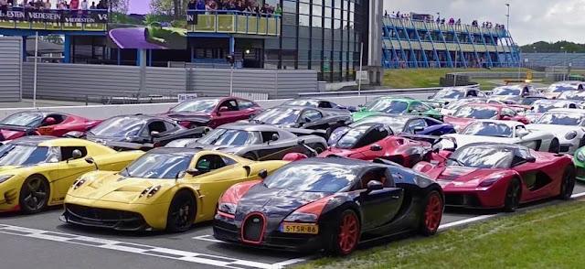 世界的に希少なスーパーカーが揃ってサーキットを走る!オランダで開催されたイベントがスゴい!