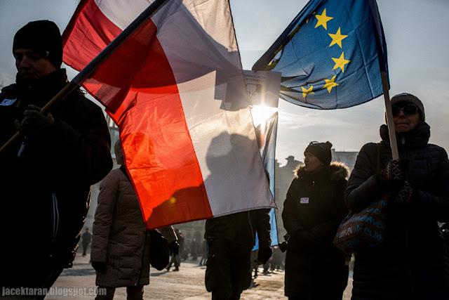 Demonstracja KOD Kraków - przeciwko inwigilacji , fot. Jacek Taran
